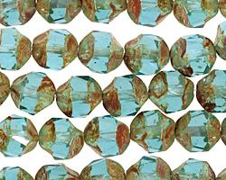 Czech Glass Beach Glass Picasso Chandelier Cut 8mm