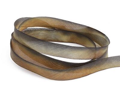 "Rusty Bucket Hand Dyed 100% Silk Ribbon 7/16"""