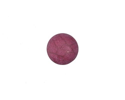 Matte Ruby Resin Round Cabochon 12mm