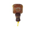 Tibetan (Dzi) Agate Matte Barrel Guru Bead 18mm