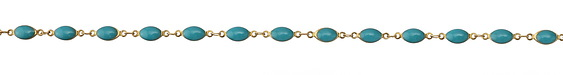 Zola Elements Turquoise Oval Link Brass Chain