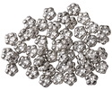 Czech Glass Antique Silver Bali Style Daisy Spacer 2x5mm