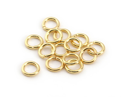 Gold (plated) Round Jump Ring 6mm, 18 gauge
