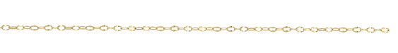 Hamilton Gold (plated) Half Flat Delicate Cable Chain 25' spool
