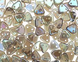 CzechMates Glass Sapphire Celsian 2-Hole Triangle 6mm