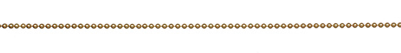 Satin Hamilton Gold (plated) Ball Chain