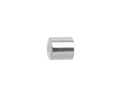 Silver (plated) Cylindrical End Cap 8mm