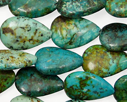 African Turquoise Teardrop 18x12mm