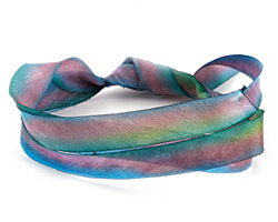 Abalone Hand Dyed 100% Silk Ribbon 7/16""