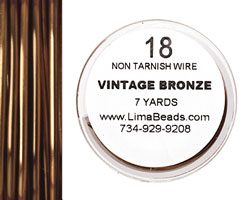 Parawire Vintage Bronze 18 gauge, 7 yards