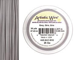 Artistic Wire Grey 26 gauge, 30 yards