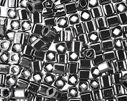 TOHO Metallic Hematite Cube 4mm Seed Bead