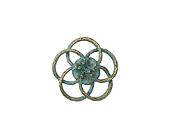 Zola Elements Patina Green Brass (plated) Open Hibiscus 20mm
