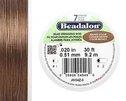 "Beadalon Bronze .020"" 7 Strand Wire 30ft."