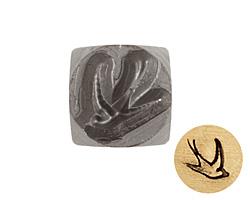 Swallow Metal Stamp 6mm