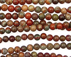 Gray Rainbow Jasper Round 4mm