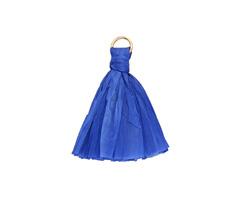 Royal Blue w/ Jump Ring Raffia Tassel 40mm