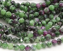 Ruby Zoisite Faceted Round 4mm