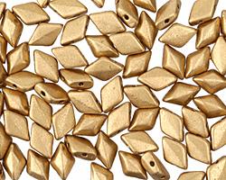 Matte Metallic Flax GemDuo 8x5mm Seed Bead