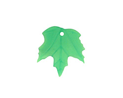 Matte Peridot Lucite Maple Leaf 18x19mm