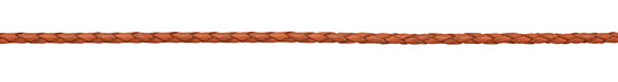 Orange Braided Leather Bolo Cord 3mm