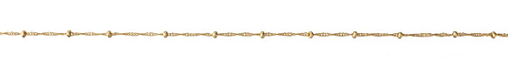 Satin Hamilton Gold (Plated) Twisted Curb Satellite Chain