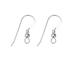 Sterling Silver Flat Earwire w/ coil and bail