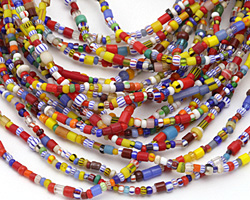 African Glass Rainbow Seed Bead Mix 2-3mm