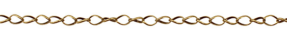 Antique Brass (plated) Twisted Oval Chain