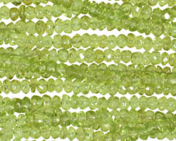 Peridot (B) Faceted Rondelle 4-5mm