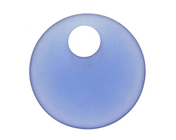 Light Sapphire Recycled Glass Off Center Donut 30mm