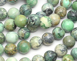 Grass Green Turquoise Round 12mm