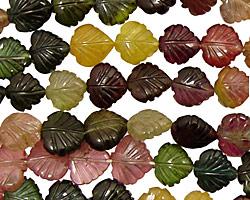 Tourmaline Carved Leaf 8-9mm