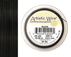 Artistic Wire Black 24 gauge, 20 yards