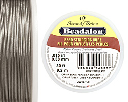"Beadalon Bright .015"" 19 Strand Wire 30ft."