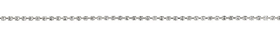 Silver (plated) Rhinestone Chain 3mm