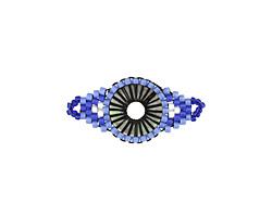 Blue Bell Hand Woven Radiant Eye Focal 30x14mm