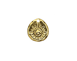 Zola Elements Antique Gold (plated) Peace Dove Wax Seal Charm 13x14mm