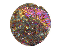Druzy (metallic rainbow) Round Cabochon 30mm