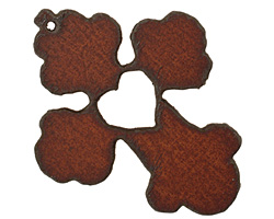 The Lipstick Ranch Rusted Iron Heart Cross Pendant 50x63mm
