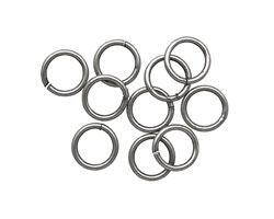 Antique Silver (plated) Soldered Jump Ring 8mm, 18 gauge