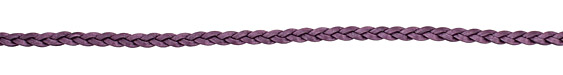Berry (metallic) Flat Braided Leather Cord 5mm