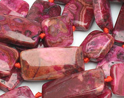 Ruby Crazy Lace Agate Thin Pillow & Square Mix 15mm
