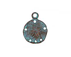 Greek Copper (plated) Patina Smooth Sand Dollar Charm 20mm