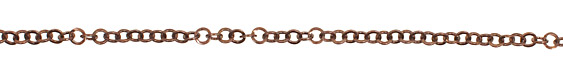 Antique Copper (plated) Flat Ring Cable Chain