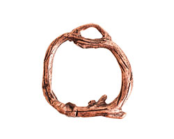 Nunn Design Antique Copper (plated) Woodland Toggle Ring 24x25mm