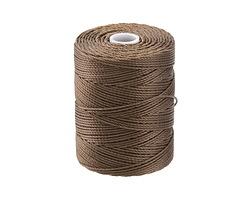 C-Lon Sepia (.5mm) Bead Cord