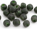 African Recycled Glass Forest Green Tumbled Round 9-11mm