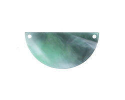 Zola Elements Emerald Marbled Acetate Half Circle Link 30x15mm