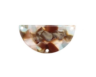 Zola Elements Mermaid Acetate Half Circle Y-Connector 30x15mm